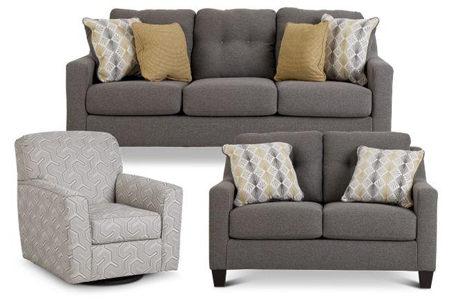 Daylon Light Gray Micro Living Room