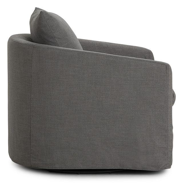 Willow Gray Fabric Swivel Chair (2)