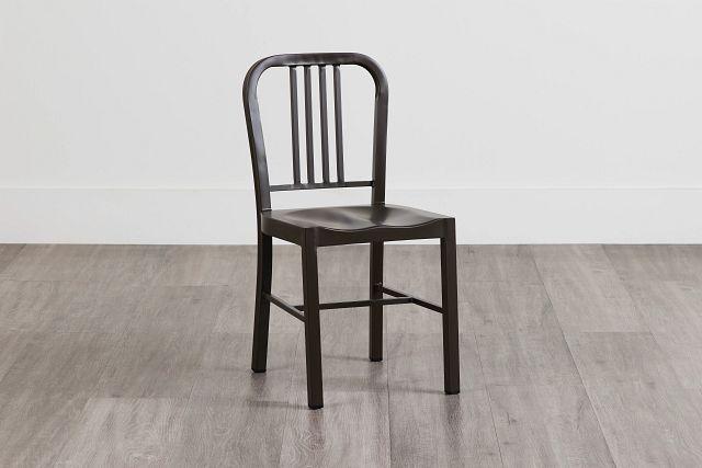 Glen Silver Metal Side Chair