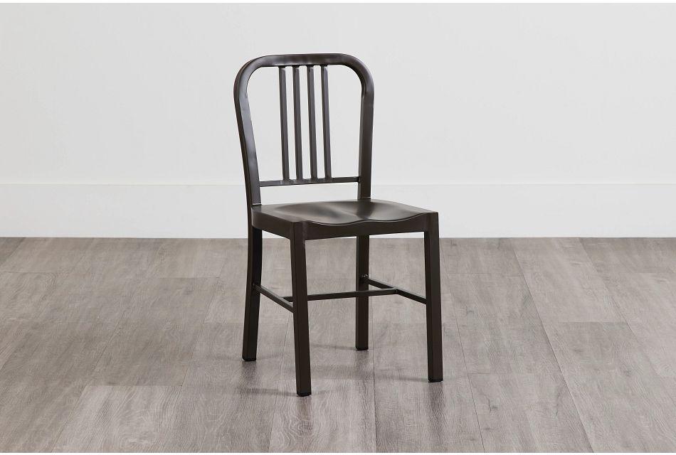 Glen Silver Metal Side Chair,  (0)