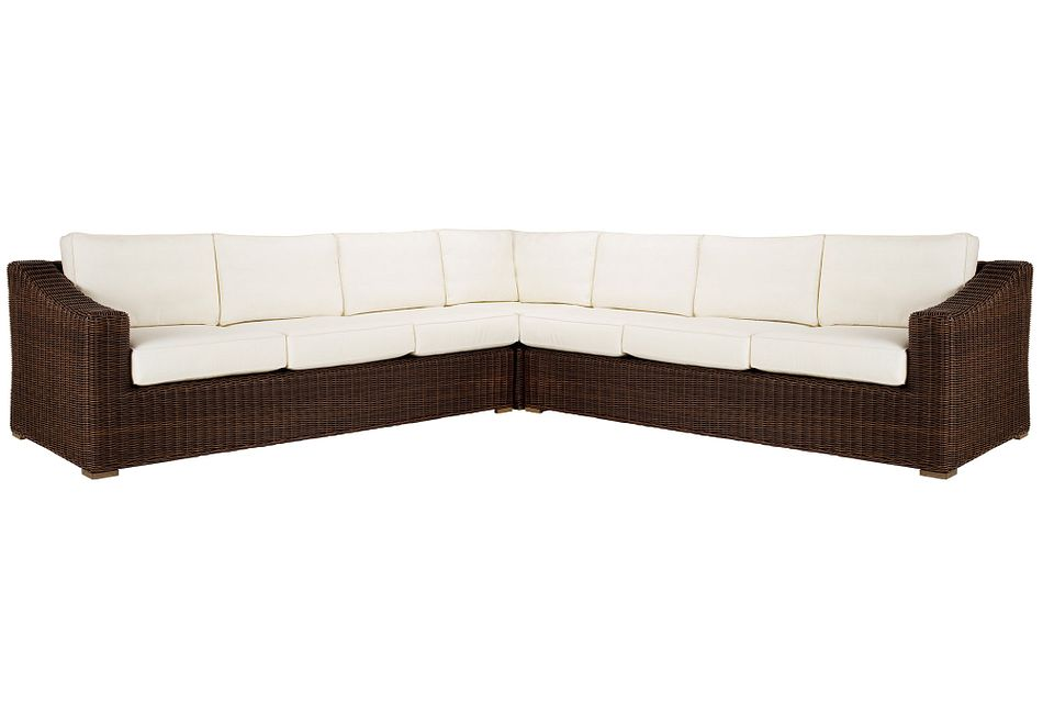 Canyon Dark Brown White Large Two-arm Sectional