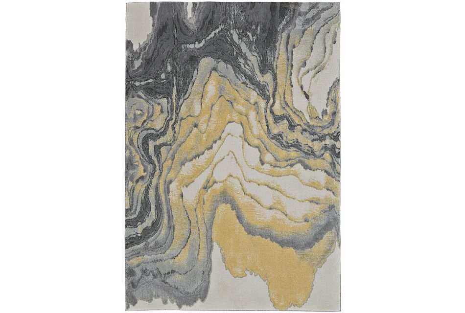 Bleecker Yellow 5x8 Area Rug