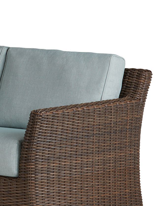 Southport Teal Right 4-piece Modular Sectional (3)