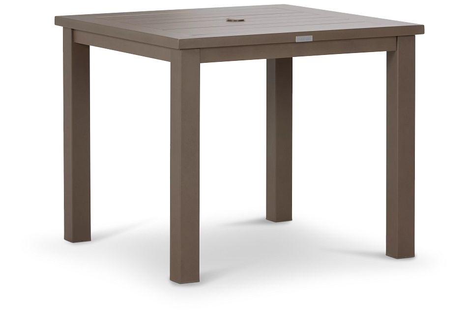 "Raleigh Taupe 35"" Square Table"