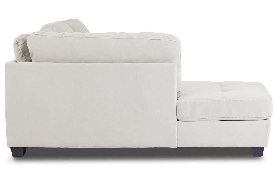 Perry Light Gray Micro Left Chaise Sectional,  (2)