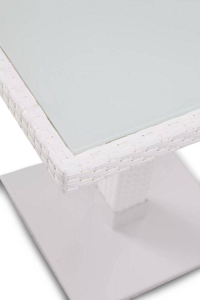 """Lisbon2 White 27"""" Square Table (2)"""