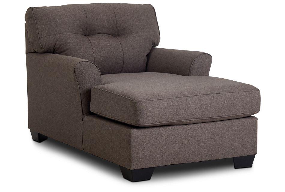 Laryn Dark Gray Micro Chaise,  (2)
