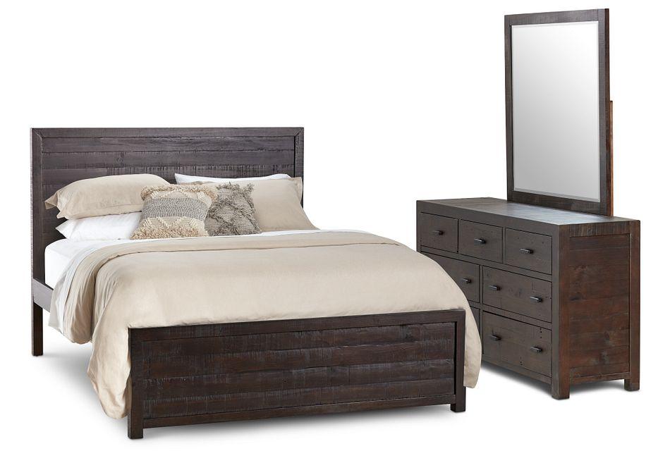 Seattle Dark Tone Wood Platform Bedroom