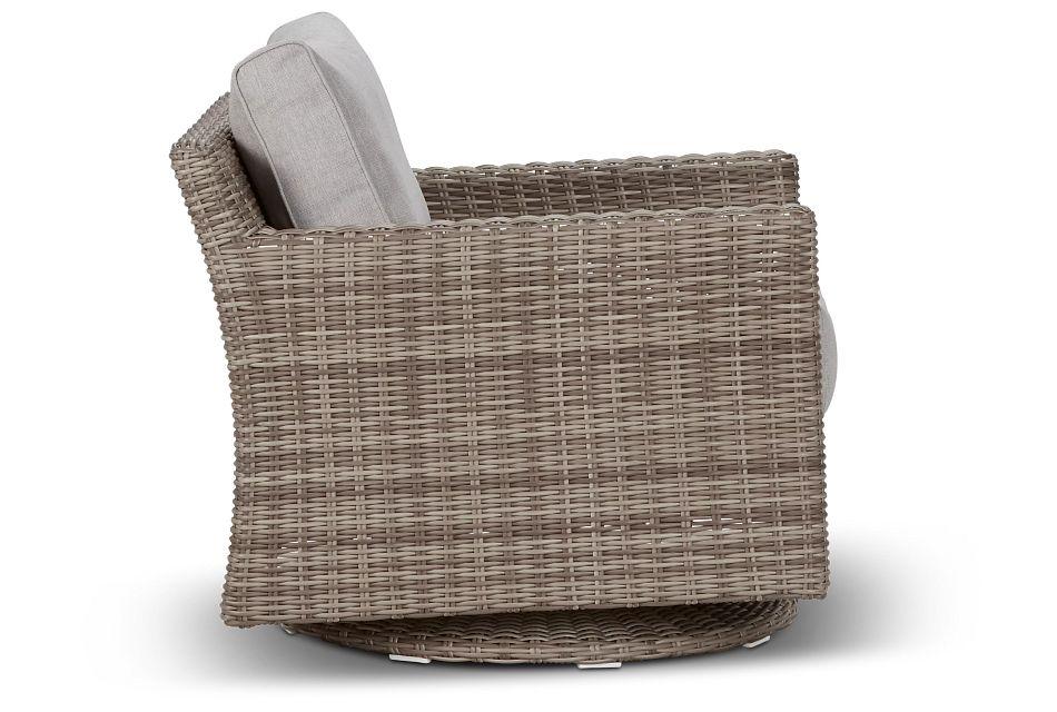 Raleigh Gray Swivel Chair,  (2)