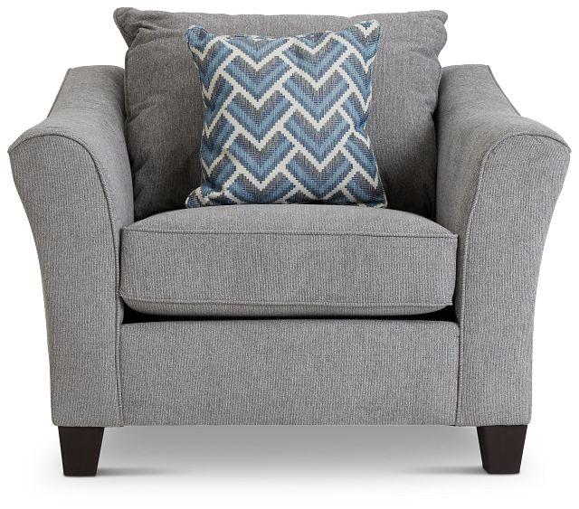 Maggie Light Gray Fabric Chair (3)