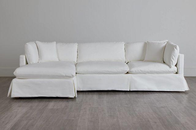 Raegan White Fabric Left Chaise Sectional (0)