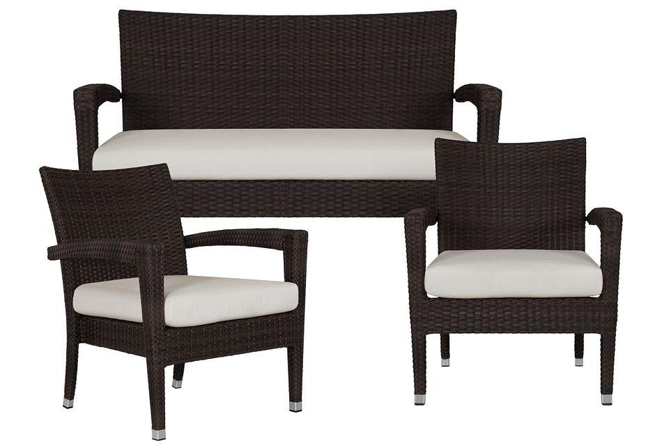 Zen White Outdoor Living Room Set