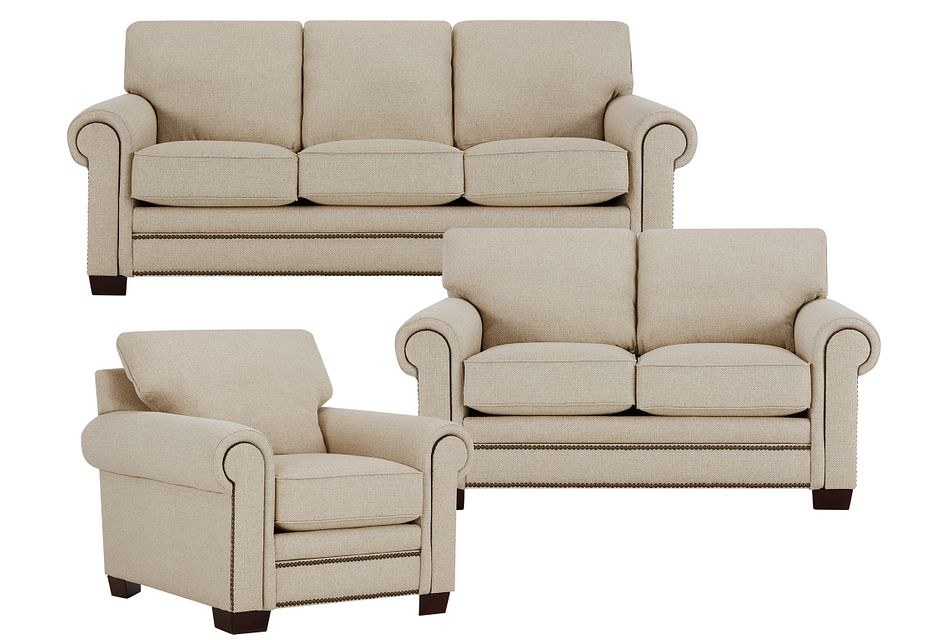 Foster Khaki Fabric Living Room