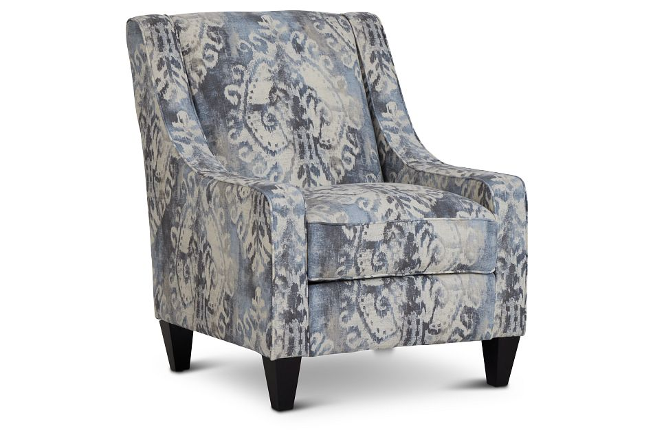 Soledad Gray Fabric Accent Chair,  (1)