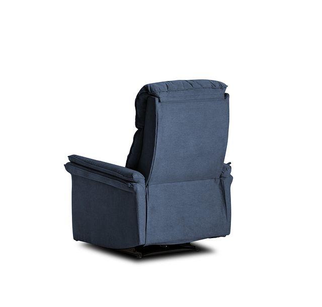 Lance Blue Fabric Power Recliner