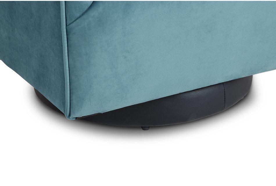 Charlotte Light Blue Velvet Swivel Accent Chair