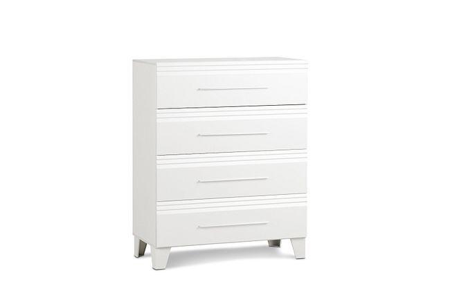 Midtown White 4-drawer Chest