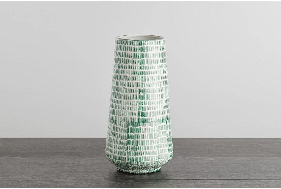 Aries Small Green Vase