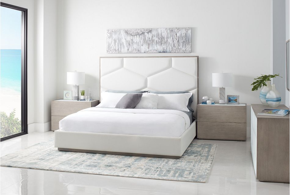 Rio Light Tone Uph Panel Bed