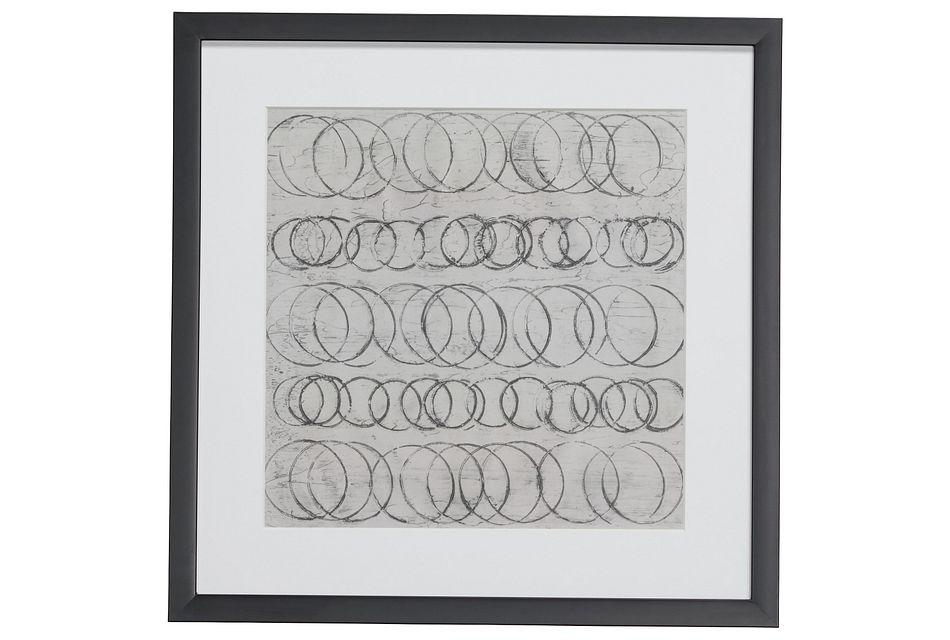 Coil Gray Framed Wall Art