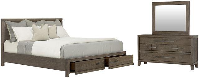 Bravo Dark Tone Wood Platform Storage Bedroom (0)