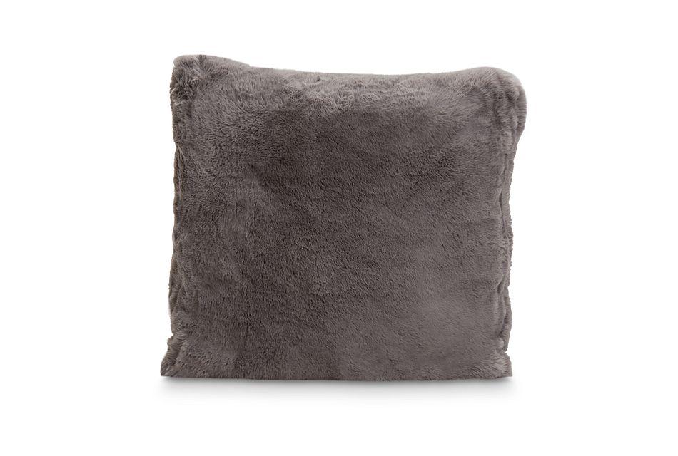 "Kaycee Dark Gray 22"" Accent Pillow"