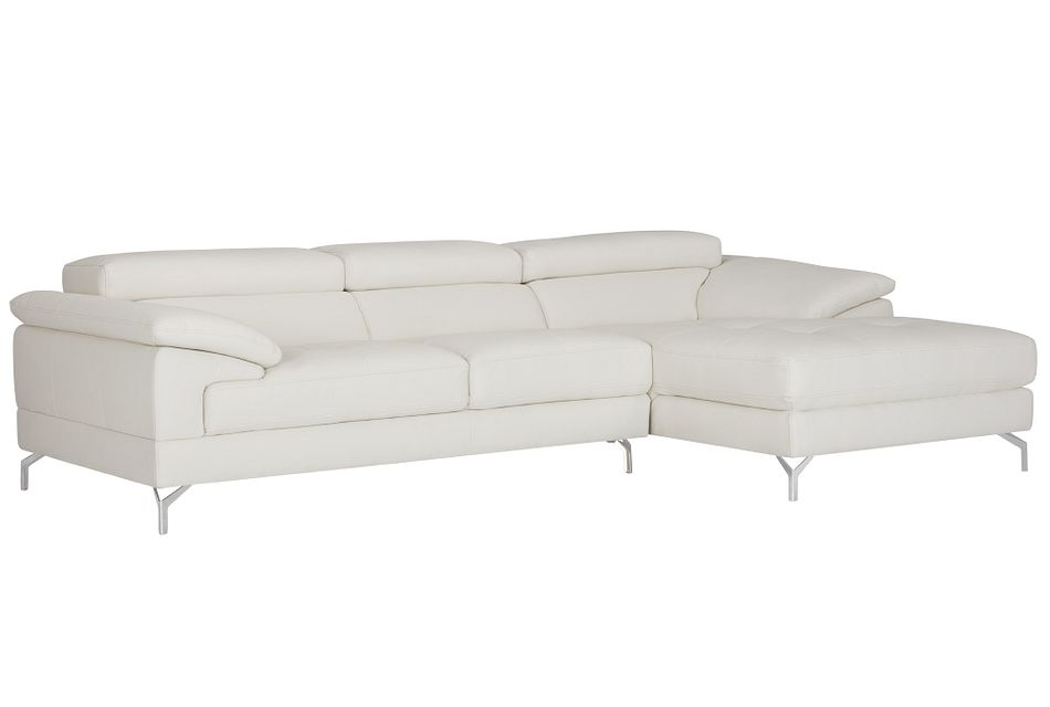 Dash WHITE MICRO Right Chaise Sectional,