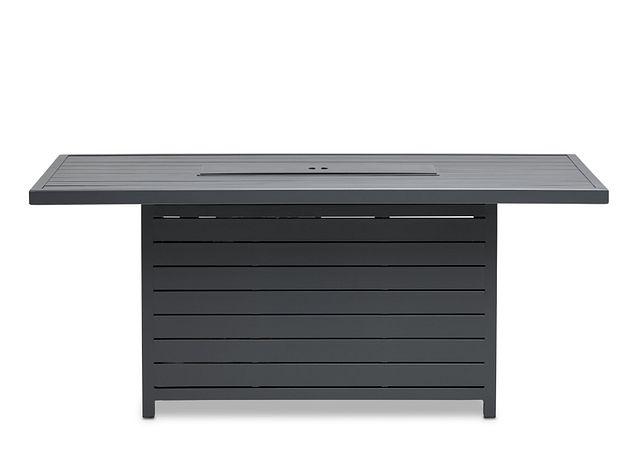 Linear Dark Gray Rect Fire Pit (0)