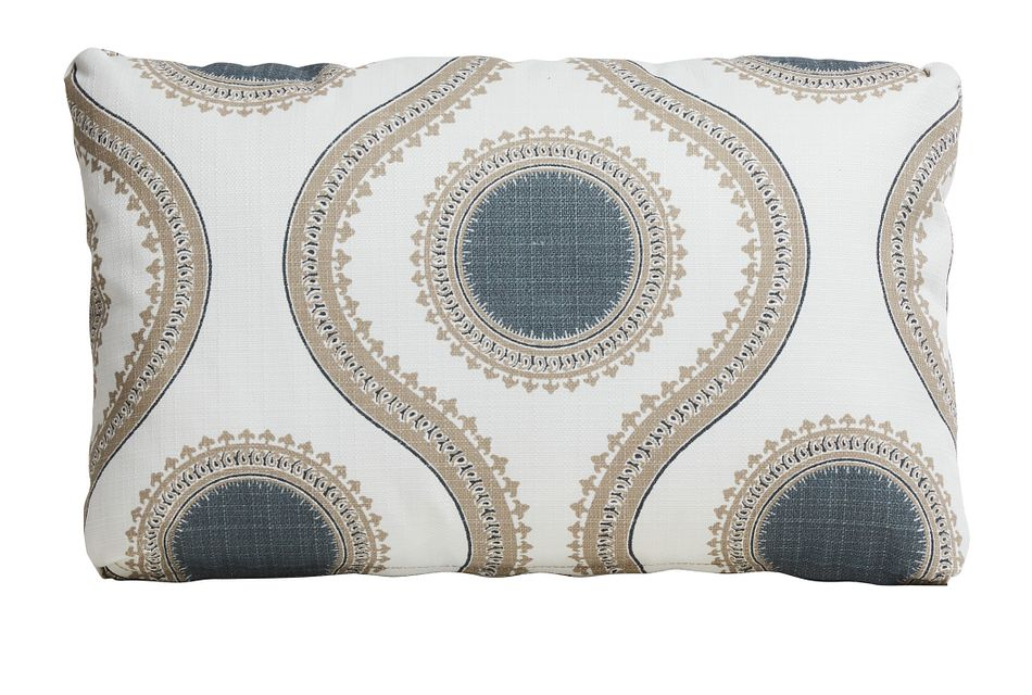 Susette Gray Lumbar Indoor/outdoor Accent Pillow