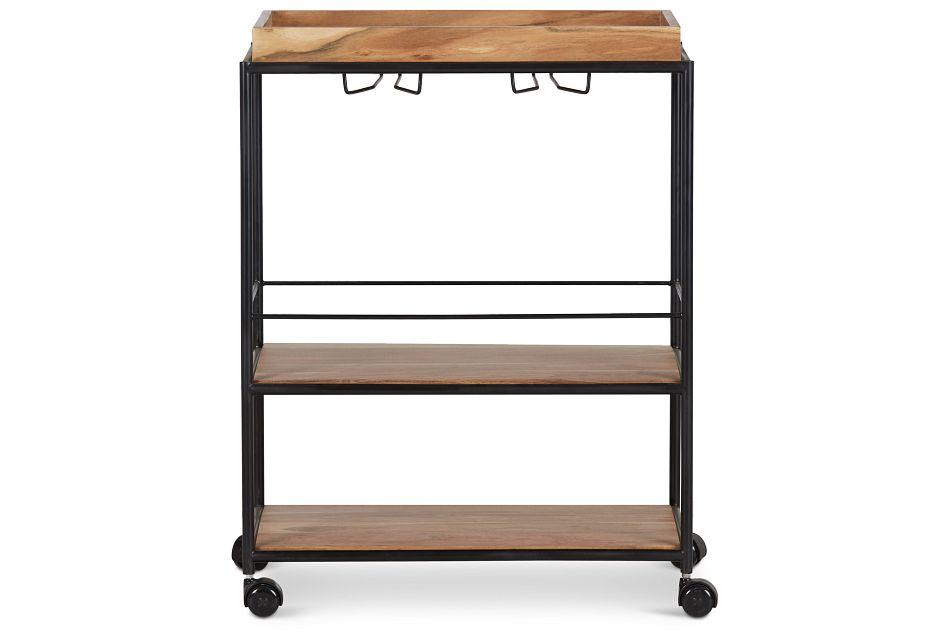 Margo Rectangular Metal Bar Cart