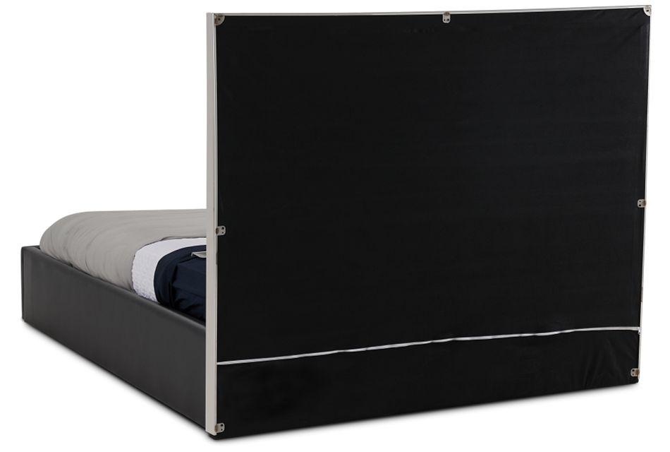 Cortina Black Uph Platform Bed