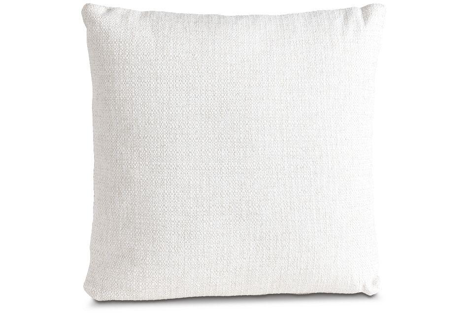 "Austin White 18"" Square Accent Pillow,  (1)"