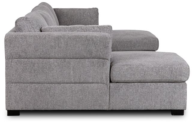 Amber Dark Gray Fabric Double Chaise Sleeper Sectional (2)