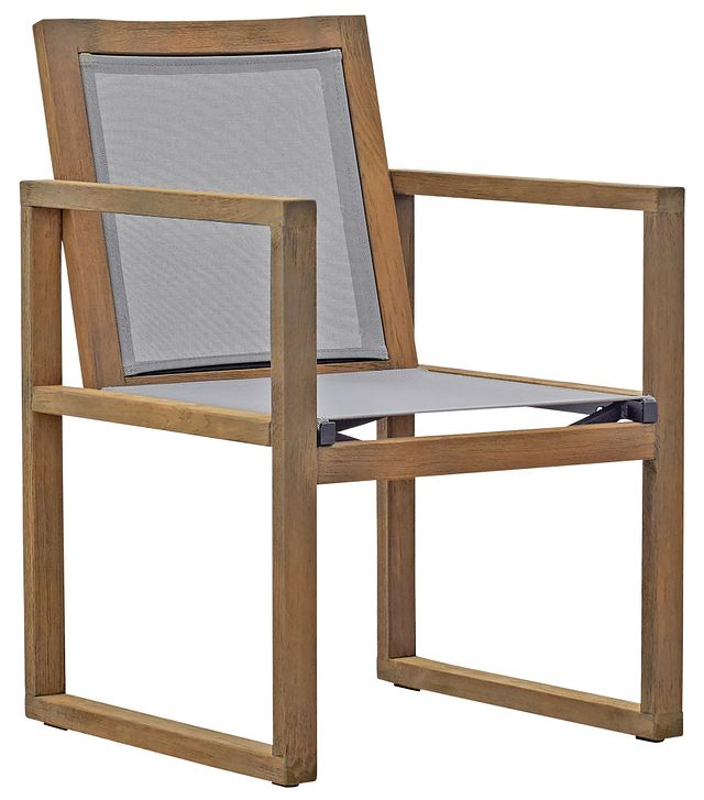 Linear Teak Sling Arm Chair (0)