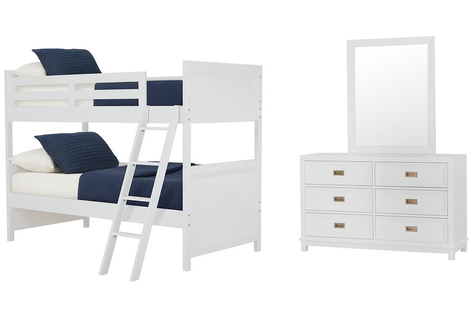Ryder White Bunk Bed Bedroom