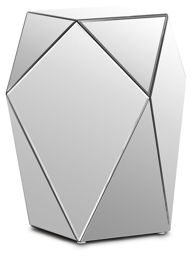 Geo Silver Medium Accent Table (1)