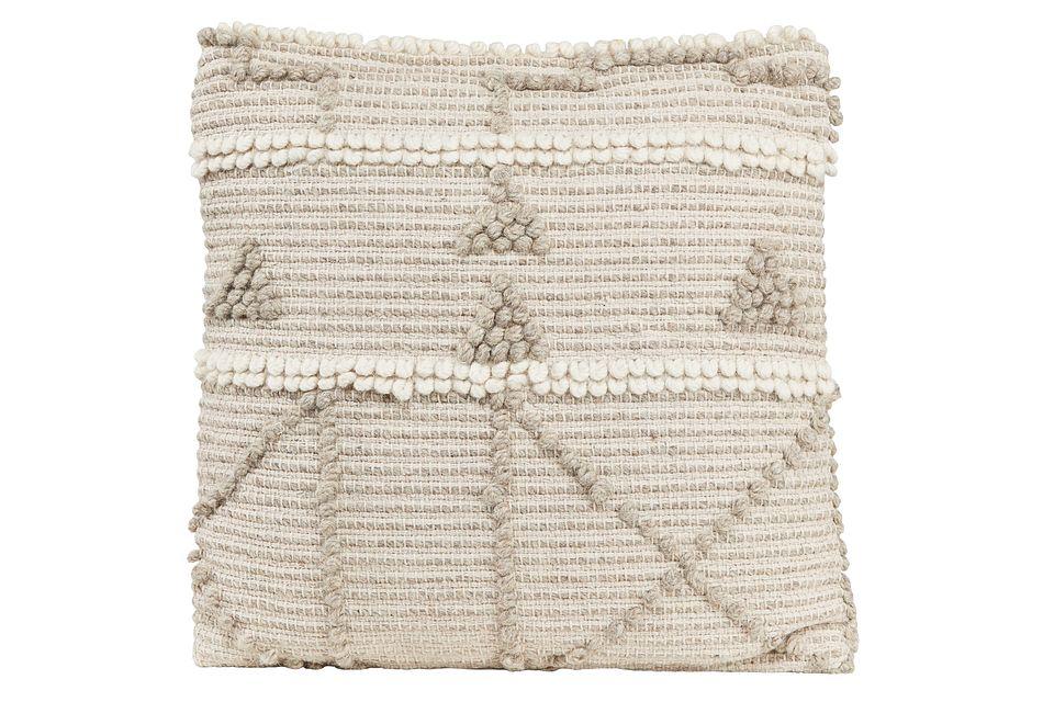 Pyra Light Gray Accent Pillow