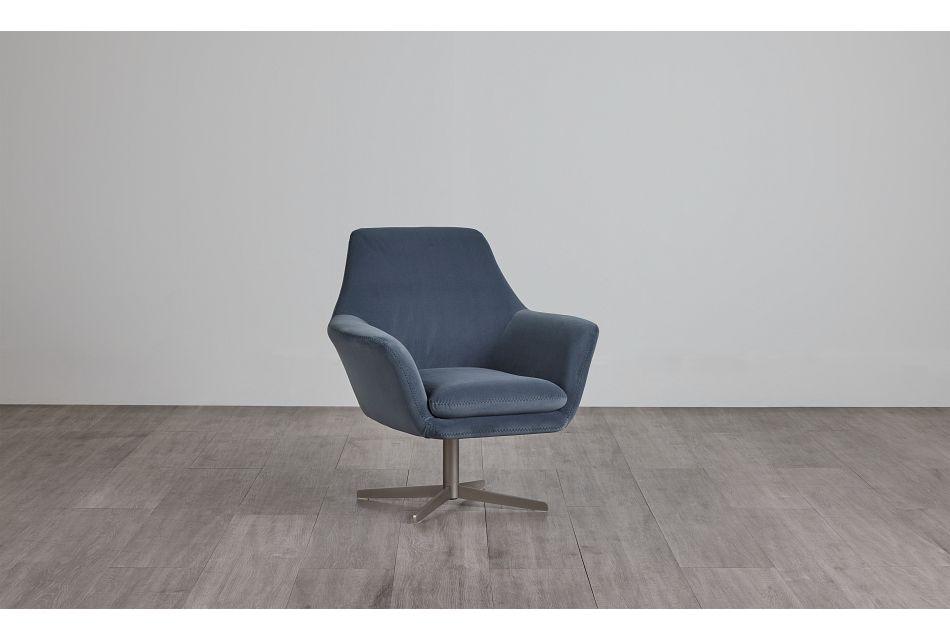 Xander Light Gray Velvet Swivel Accent Chair,  (0)