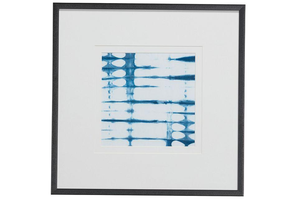 Groove Blue Framed Wall Art