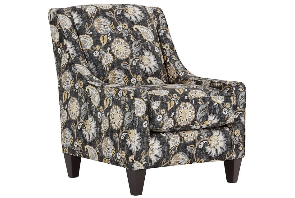 Sylvie Yellow Fabric Accent Chair