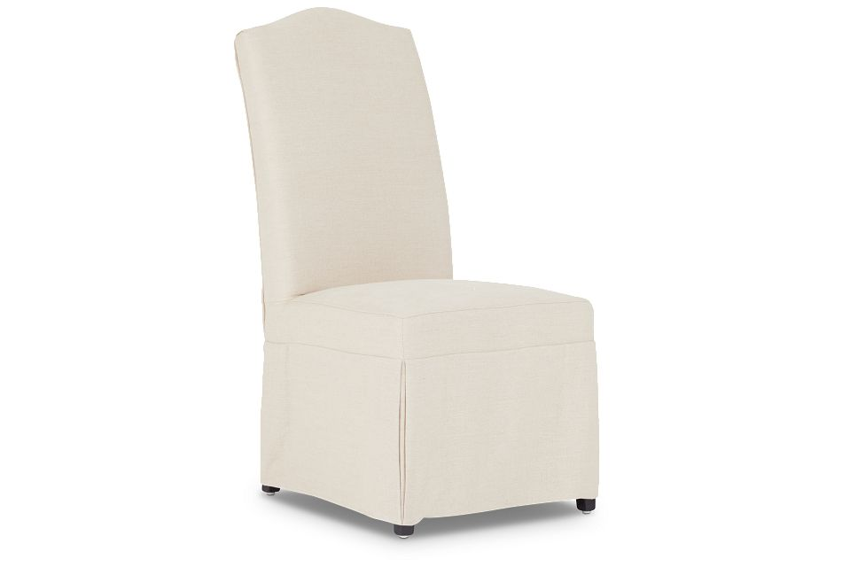 Aberdeen Beige Fabric Upholstered Side Chair,  (1)