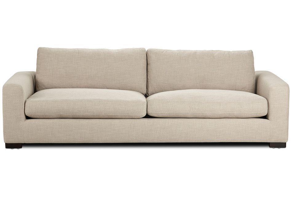 "Bohan 103"" Pewter Fabric Sofa,  (1)"