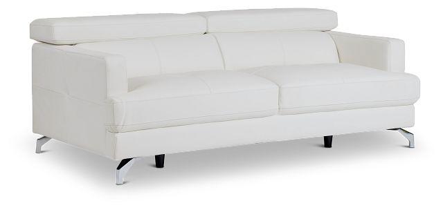 Marquez White Micro Sofa (2)
