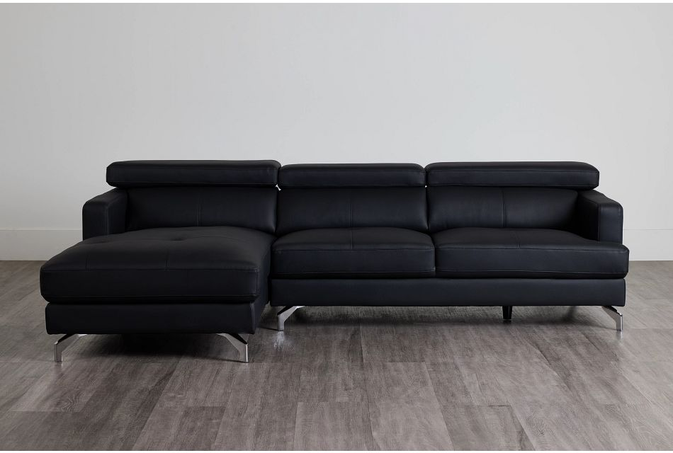 Marquez Black Micro Left Chaise Sectional,  (0)
