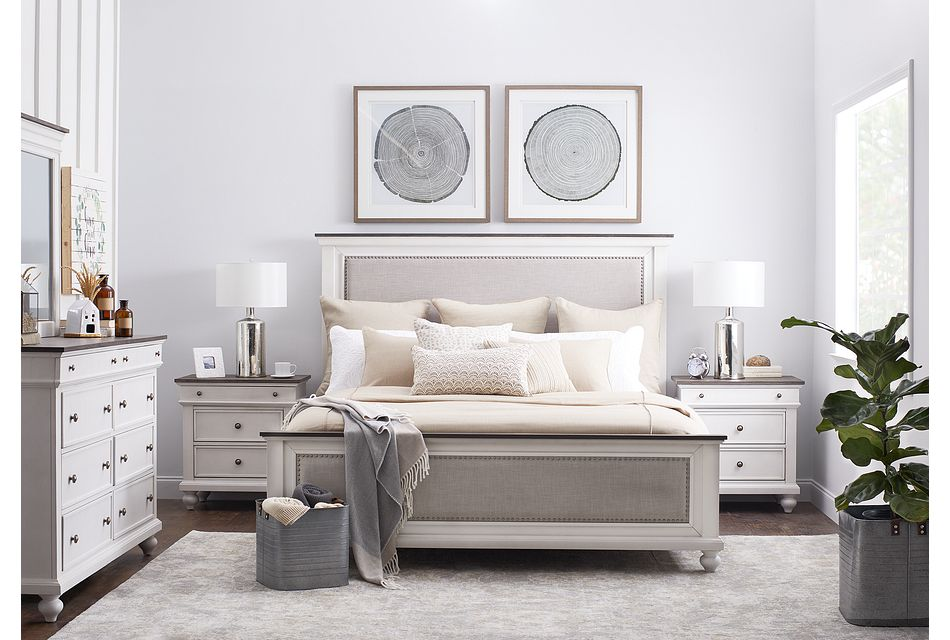 Grand Bay Two-tone Wood Panel Bed