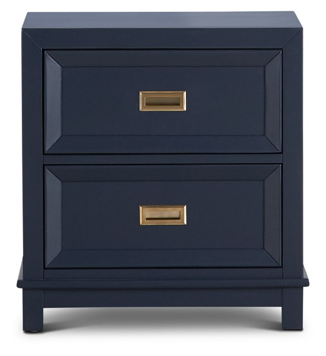 Ryder Dark Blue 2-drawer Nightstand (3)