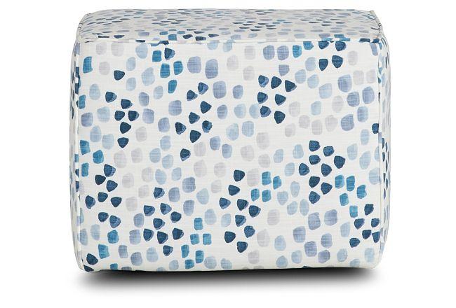Pfeiffer Blue Fabric Accent Pouf