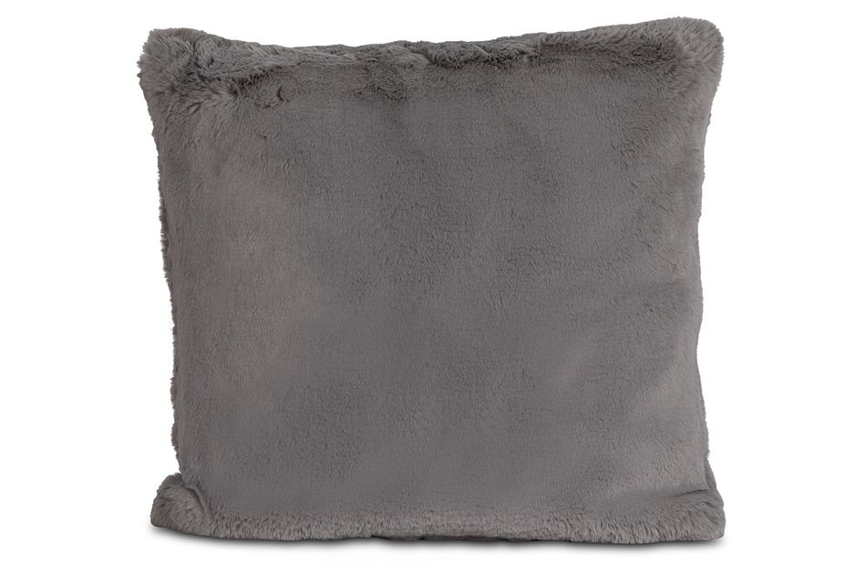 "Kaycee Dark Gray  24"" Accent Pillow,  (0)"