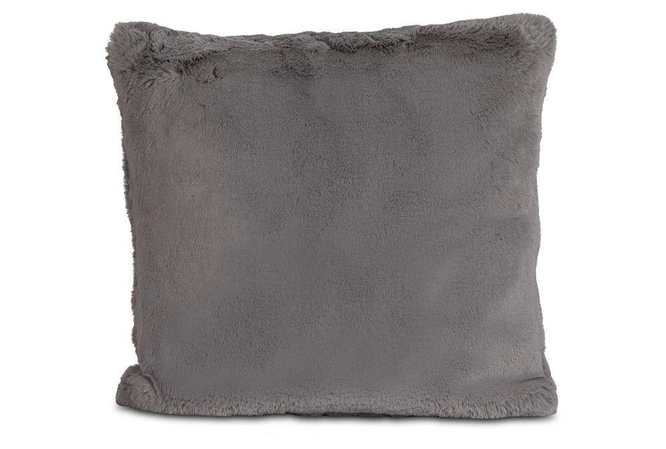 "Kaycee Dark Gray 24"" Accent Pillow"