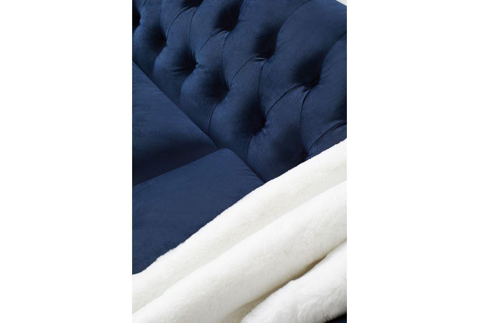 Blair Dark Blue Micro Sofa